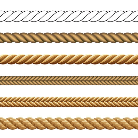 Set of Different Styles of Rope Vector