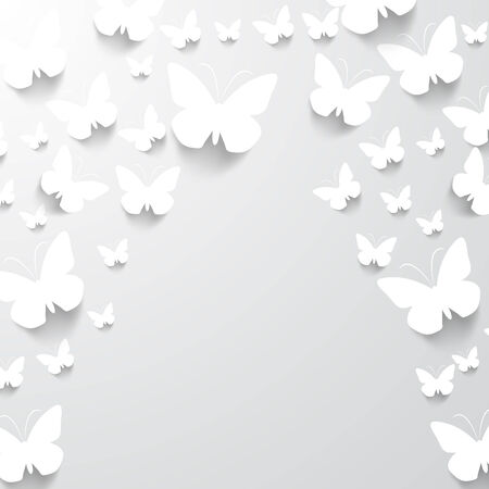 tridimensional: Paper Butterfly Background