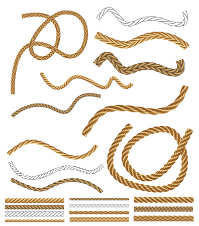 Vector Rope Brushes - with brush library Reklamní fotografie - 28869004