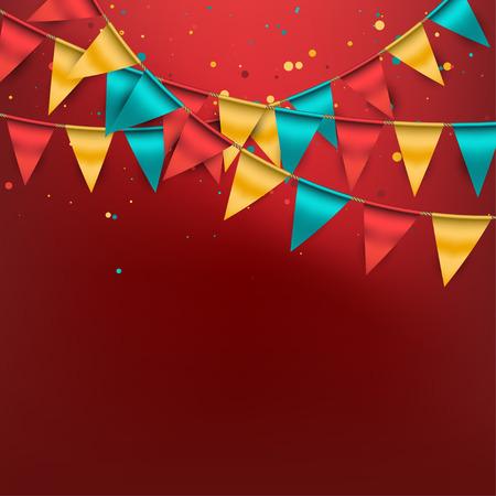 Feestelijke Achtergrond met Gorzen en Confetti