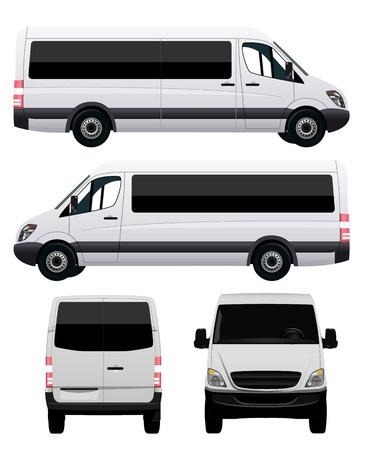 Passenger Van - Minibus Vector