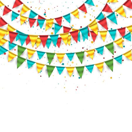 Colorful Garland Background Ilustracja