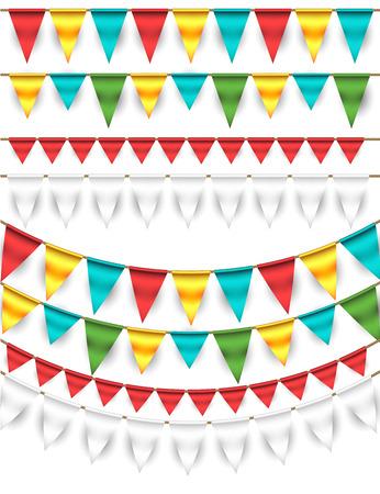 ホオジロと花輪セット  イラスト・ベクター素材
