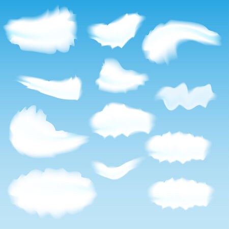 whirling: Cloud Set Illustration