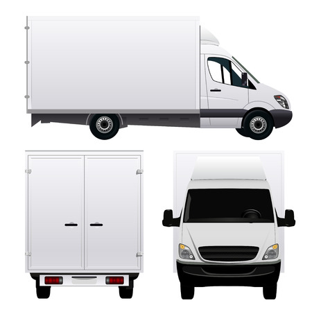 comercial: Cargo Van - Cami�n Vectores
