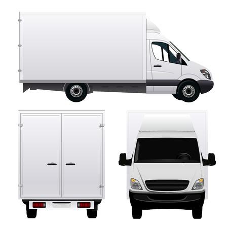 komercyjnych: Furgon - Ciężarówka Ilustracja