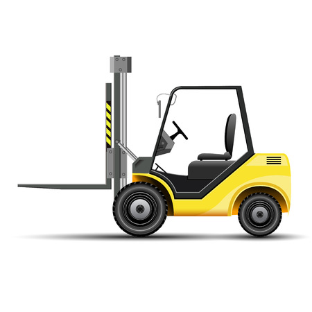 forklift truck: Forklift - Shipping Icon
