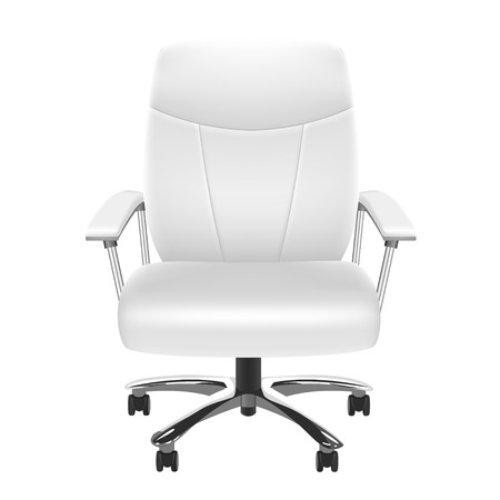 elbow chair: White Chair Illustration