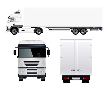 貨物トラック  イラスト・ベクター素材