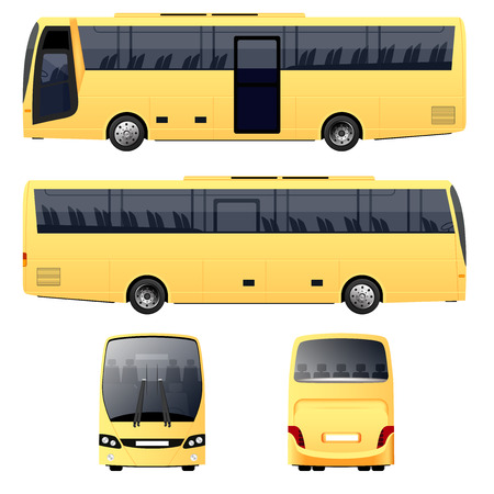 motor coach: Yellow Bus