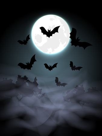 spooky house: Halloween Background Illustration