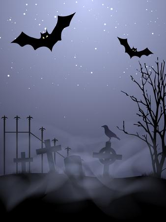 halloween invitation: Halloween Background Illustration