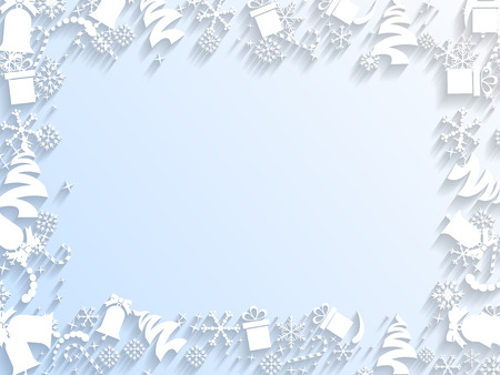 national border: Decorated Christmas Frame