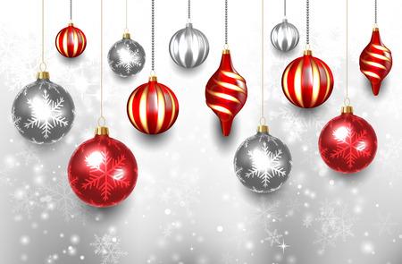 christmas ball: Christmas Ball Background Illustration