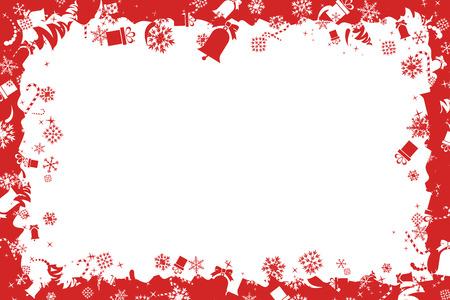 Christmas Border Vectores