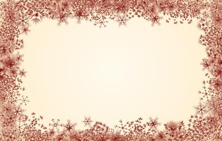 Schneeflocke-Rand Standard-Bild - 33789110