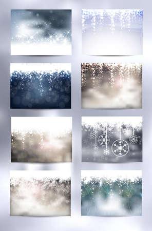 christmas backgrounds: Set of eight Christmas Backgrounds