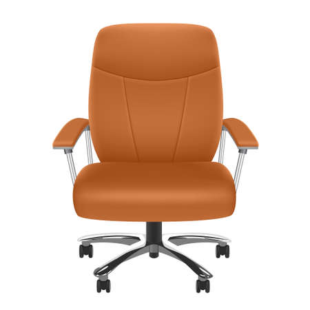 leather chair: Presidente de cuero  Vectores