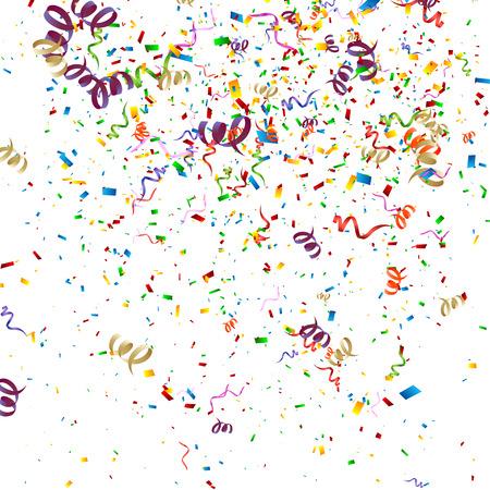 カラフルな紙吹雪背景  イラスト・ベクター素材