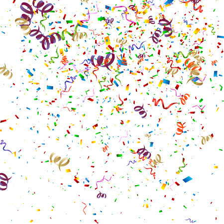 party streamers: Colorful Confetti Background