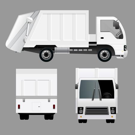 処分のゴミ収集車