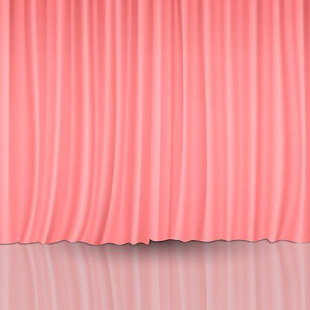 cortinas rojas: Cortinas rojas Vectores