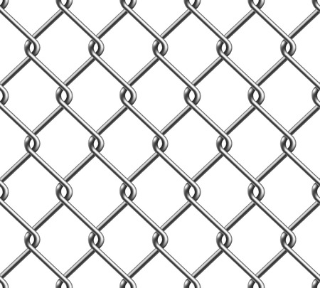 chain fence: Seamless Chain Fence Illustration