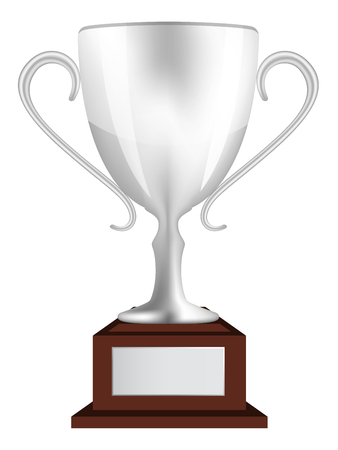 second place: Silver Second Place Trophy Cup Illustration