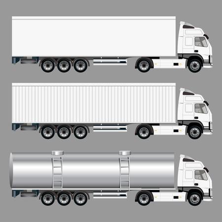 商用トラック  イラスト・ベクター素材