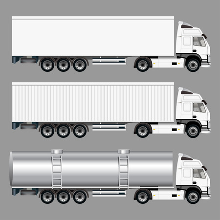 camion: Camiones Comerciales Vectores
