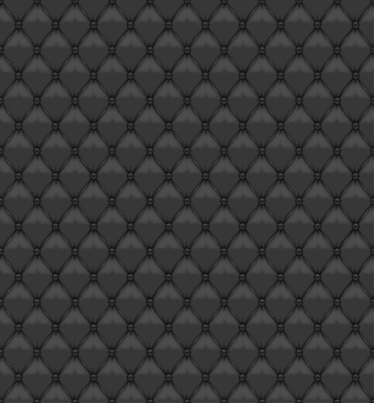 button tufted: Seamless Black Leather Upholstery