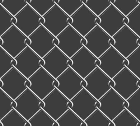 Seamless Chain Fence Illustration