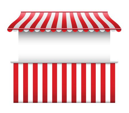 comercio: Stall con rayas Toldo