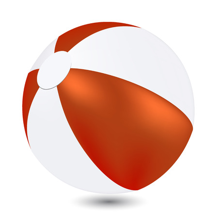 throw up: Red and white Beach Ball