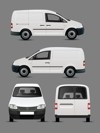 White Vector Van