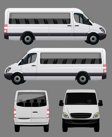 mini bus: White Bus