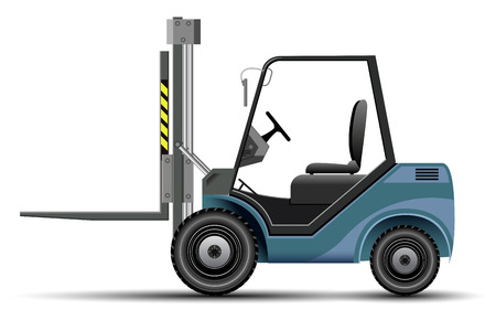 Vector Blue Foklift Illustration