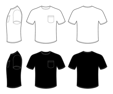 t shirt design: Mans T Shirt with Pocket