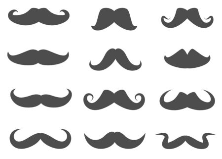 facial painting: Vector Moustaches Set