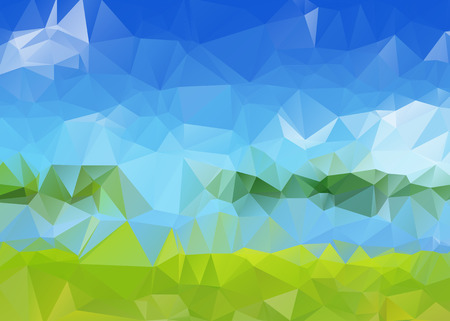 Triangular Texture with Summer Colors
