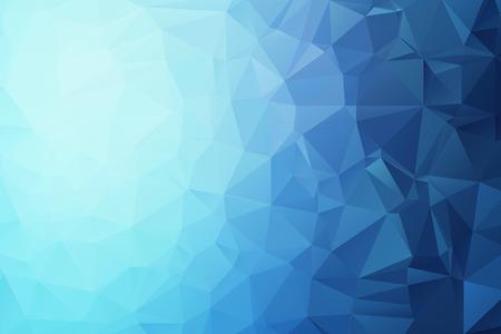 青い三角形の背景  イラスト・ベクター素材