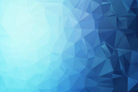 ornamental background: Blue Triangular Background Illustration