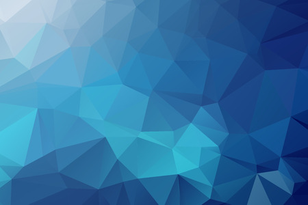 geometrics: Blue Triangular Background Illustration