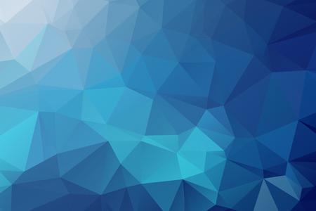 abstrato: Fundo Azul Triangular Ilustração