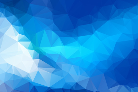 Blue Triangular Background Vector