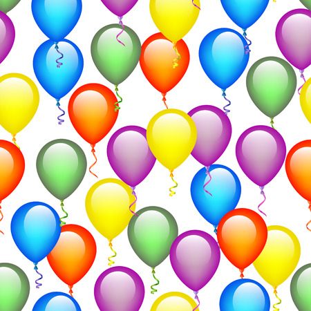 Seamless Colorful Balloon Pattern Vector