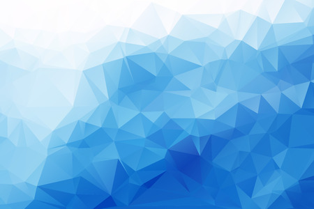 Blue Triangular Background Illustration