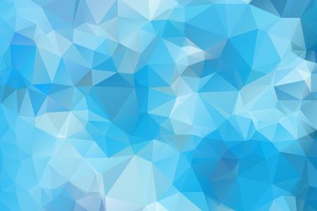 Blue Triangular Background Çizim