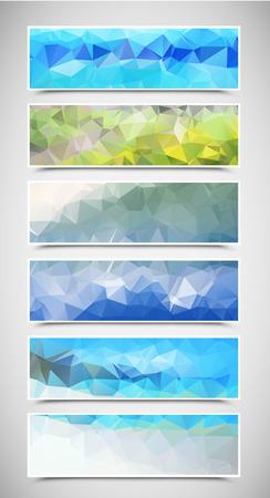 Triangular Banners Set Ilustrace