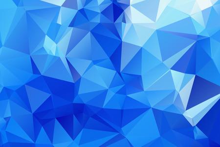 Blue Triangular Background Illustration